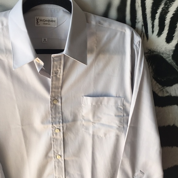 VINTAGE 80s 90s YSL Chemises Dress Shirt NWOT